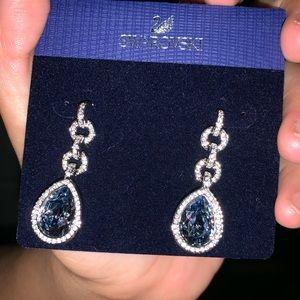 Swarovski Blue Teardrop dangle earrings